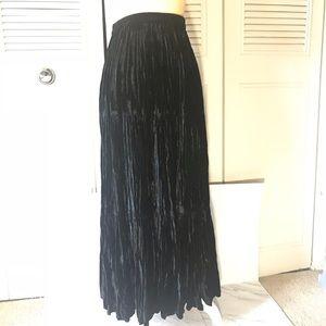 Double DD ranchwear Crushed velvet maxi skirt